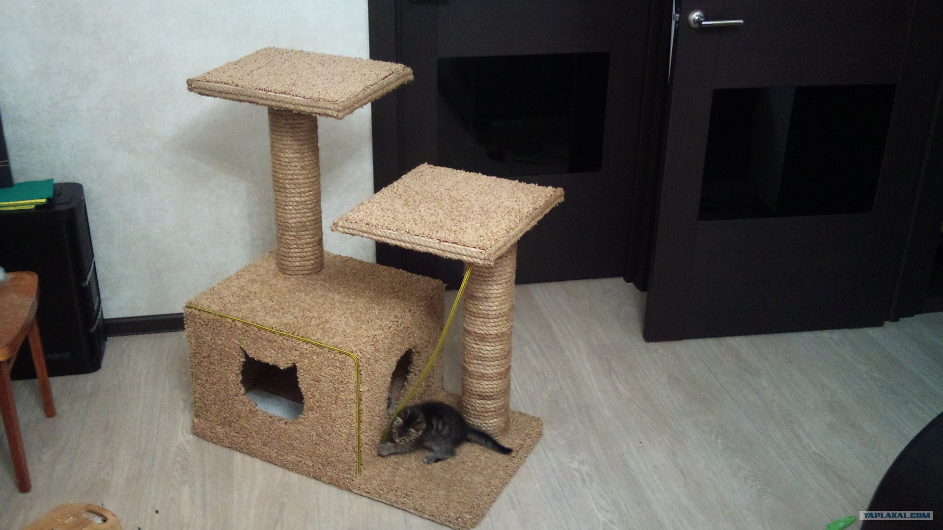 Кошкин домик своими руками пошагово с фото