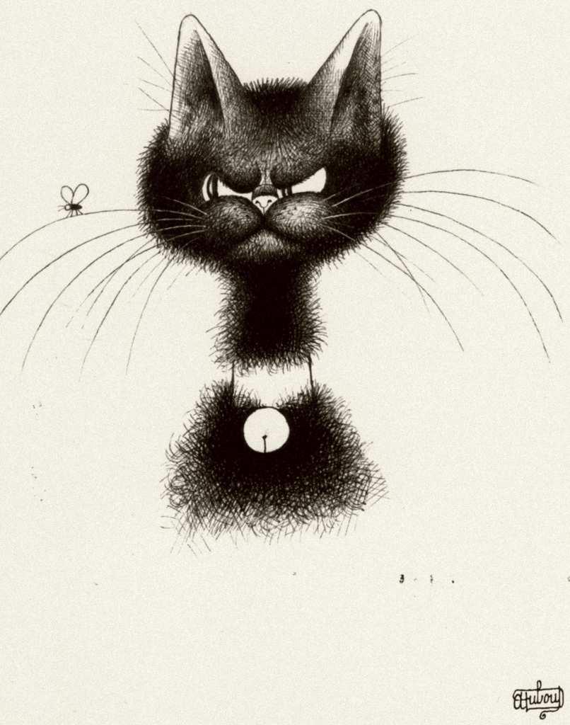 Прикольные рисунки котов графика