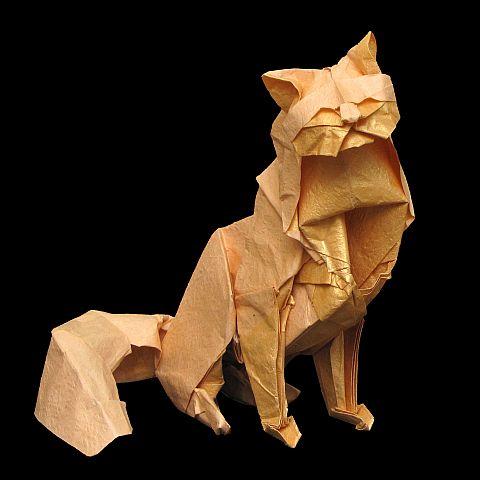 Объемные оригами кошки