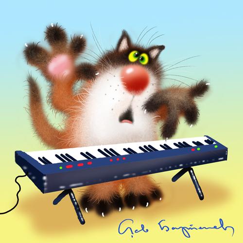 Музыкальное поздравление от кота