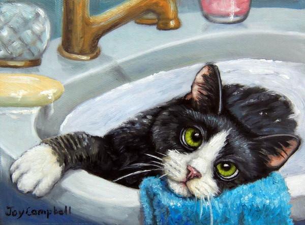 blue striped cat