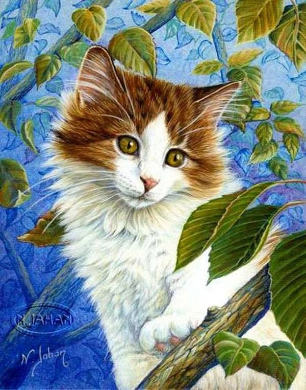 Надежда, картинки красивые с котятами кошками нарисованные